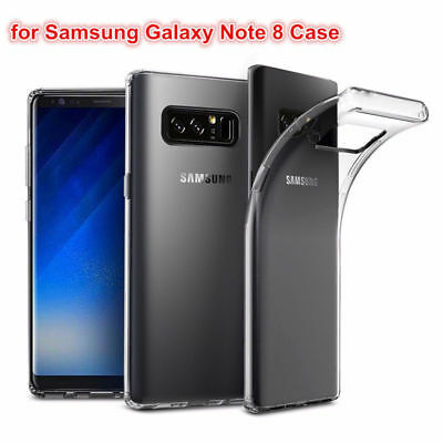 Samsung Galaxy Note 8 Silikon Hülle transparent ultraslim slim Cover Case TPU