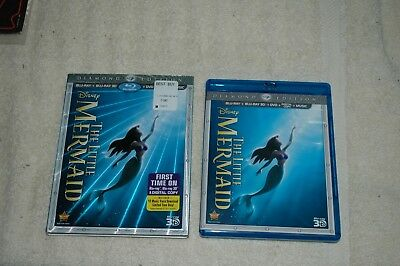 The Little Mermaid (Blu-ray/3D/DVD, 2013, 3 Disc Set+ *Diamond Edition EXCELLENT