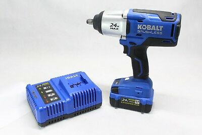 "Kobalt 1/2"" 24v Cordless Impact With Battery and Charger"