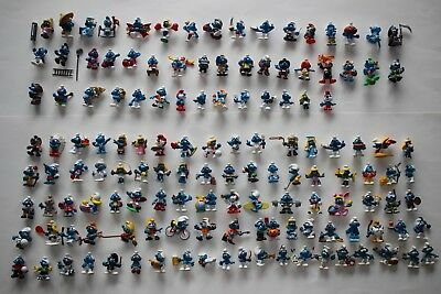 Collection of 138 Smurf figures Schleich Bully rare vintage PVC figurines lot