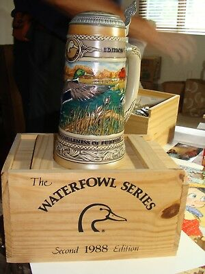 1988 Ducks Unlimited 2nd in series Carolina Collection Beer Stein NIB
