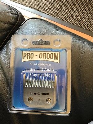 Pro-Groom No.4 Dog clipper blade, fits Andis & Oster clippers + 1 free resharp