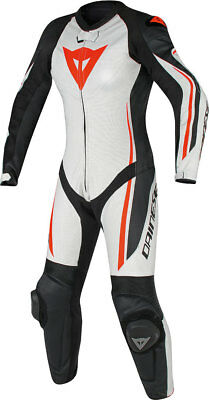 Dainese Assen 1 pce Ladies suit - EU46/ UK14 - Whi/Blk/F.Red - WAS £699.95