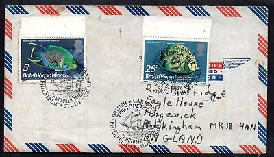 British Virgin Islands 1976 Cover Rare Tortopex Handstamp (only used for 1 Day)
