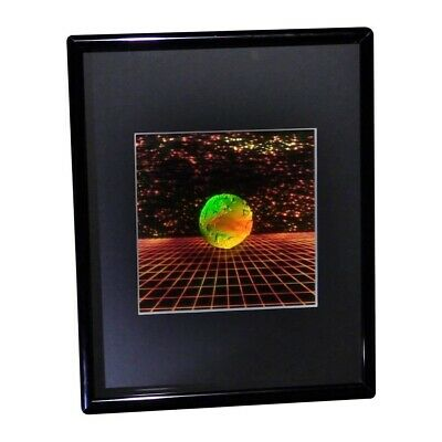 3D Earth with Grid Hologram Picture FRAMED, Collectible EMBOSSED Type Film