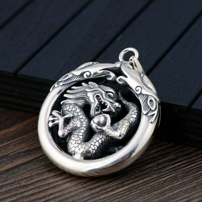 Dragon pendant Silver Sterling 925 antique charm Vintage Jewelry