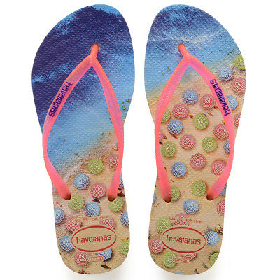 4cfb1141c097 Ladies Havaianas Slim Paisage Thong Toe Post Holiday Summer Sandals All  Sizes