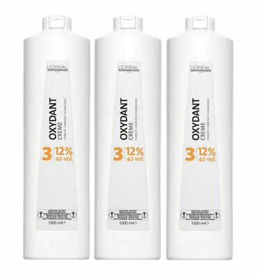 3 er Pack Loreal Oxydant Creme 12% 1000 ml