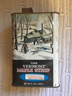 Vintange 1/2 Gallon Vermont Fancy Pure Maple Syrup Can