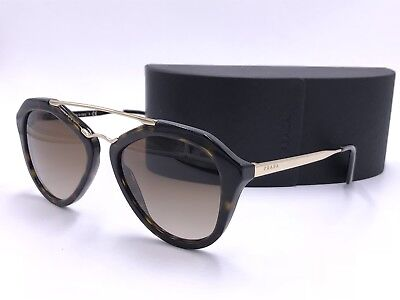 77815ba784477 Prada Sunglasses Spr12Q 2Au-6S1 Tortoise  Gold  Brown Gradient Authentic  Italy