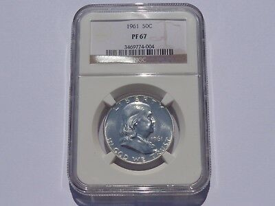 1961 Franklin Half Dollar 50 Cents Ngc Pf-67 Super Nice! Must See!!