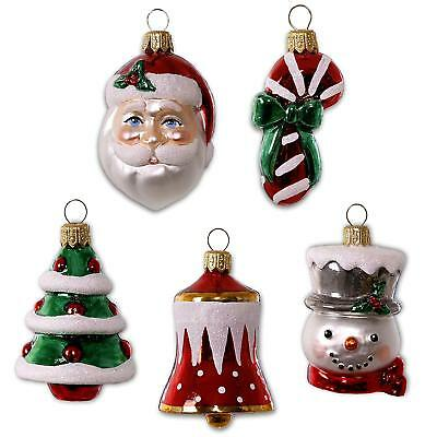Hallmark ~ Symbols of the Season Mini Blown Glass Ornaments - Set of 5