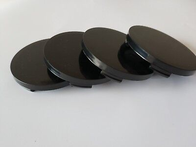 Set 4 pcs Plain Wheel Center Hub Centere Caps 64mm/62mm Black Universal 09