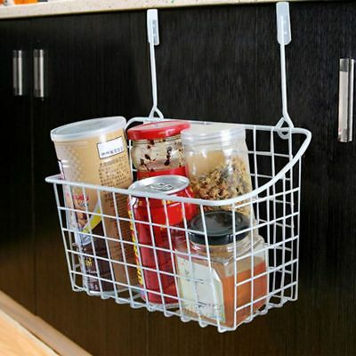 Door Storage Basket Practical Kitchen Cabinet Drawer Organizer Door Hanger O8W7