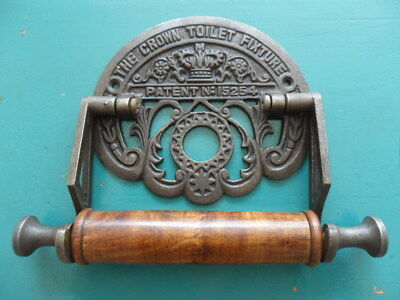vintage style toilet roll holder wall door crown loo roll hold uneven quirky 10