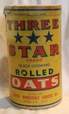 Three Star Oats Box Container