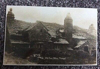 Early Real Photo Postcard Old Post Office Tintagel Cornwall