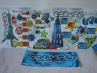 Bauanleitungen Geomag magnetic world the original 2 Stück Top