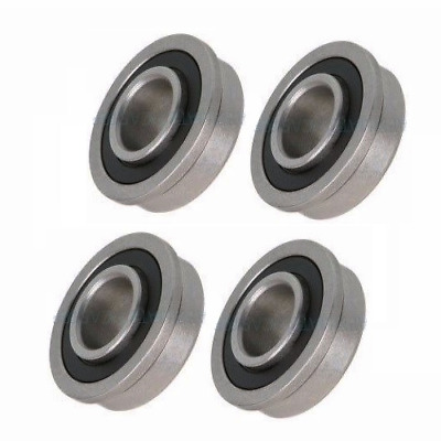 "Four Precision Sealed Flanged 1-3/8"" OD Bearings (1/2"" 5/8"" 3/4"" ID)"