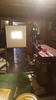 """Natco 16mm Film Projector Model 3030 """"Lefty"""" Tested and Fully functional"""