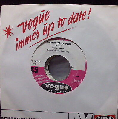 """Gerry Hayes: Soulgirl(Philly Dog) 7"""" Single"""