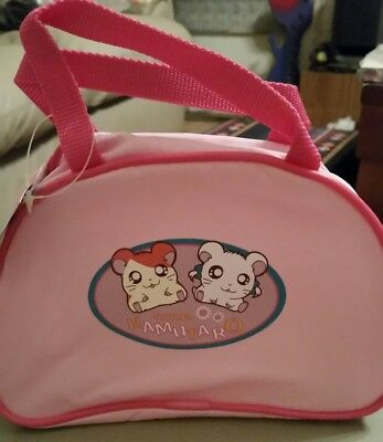 Brand New Vintage Japan Hamtaro hamster mini nylon carrying zipper tote bag