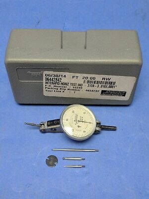 "Interapid 312B-1 Dial Horizontal Test Indicator .0001""-.016"" w/ Additional Tips"
