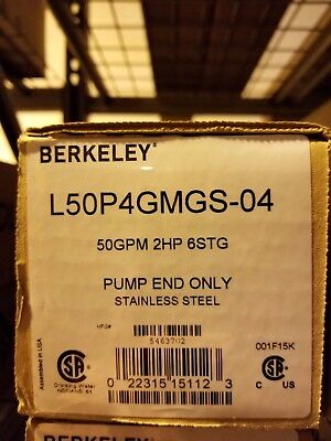 Berkeley 50 GPM / 2 HP Submersible SS pump end LP4GMGS-04