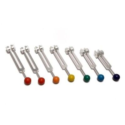 COLOR BALL 7 CHAKRA WEIGHTED TUNING FORK For Sound Therapy Energy Healing