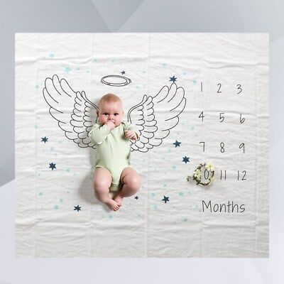 Baby Milestone Blanket Soft Baby Shower Gift Photo Prop for New Moms Baby Banner