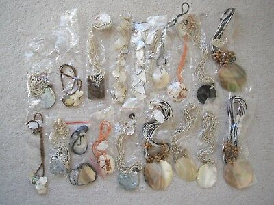 Job lot jewellery 20 shell  necklaces suitable for Car Boot Sale new
