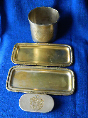 Vintage Sweet England Dishes Silverplated