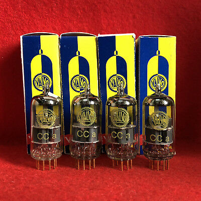 4x  tested CCa Valvo ( E88CC / 6922 ) yellow labeled