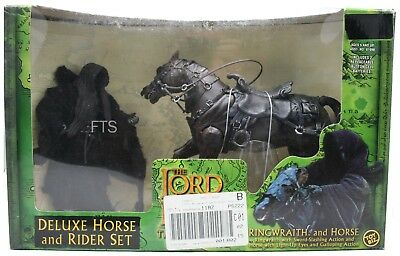 Herr der Ringe Deluxe Horse and Rider Set Ringwraith and Horse Set Toybiz LOTR