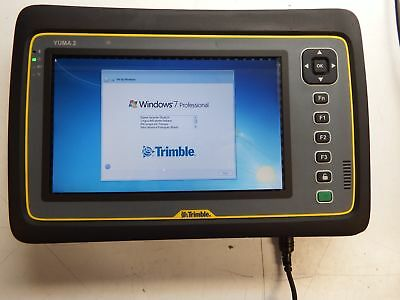 Trimble Yuma 2 Rugged Tablet Windows 7 Pro Touch Screen W/ Charge Kit #23