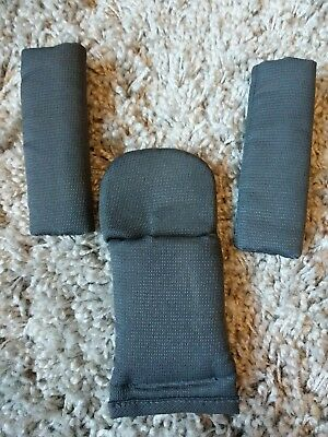 iCandy Peach Truffle grey shoulder chest and crotch seat pads set