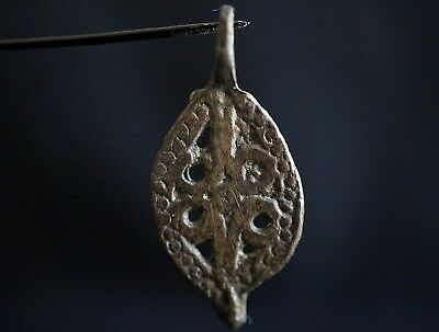 Ancient Viking Bronze Amulet. Openwork Norse Pendant, circa 950-1000 Ad. Cleaned