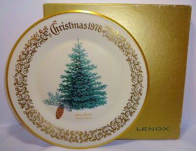 Lenox 1978 Christmas Limited Edition Commemorative Plate with Original Box