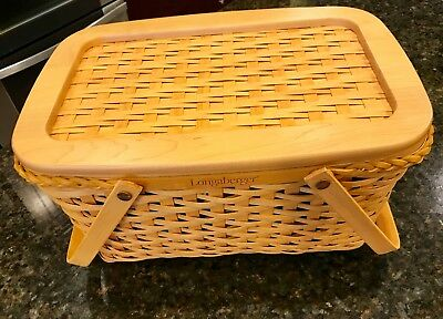 Longaberger Founders Market Basket - New with Interior Protector and Lid