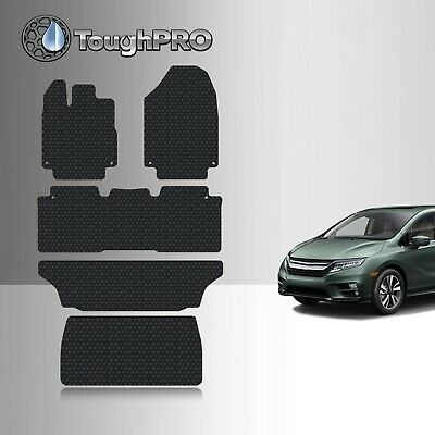 ToughPRO Black Rubber Floor Mats with Trunk Mat For 2018-2019 Honda Odyssey