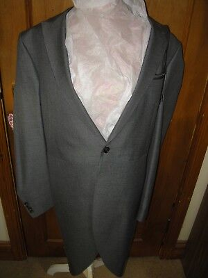 """Mens Gents Grey Tails Smart Tailored Wedding Morning Jacket M & S Size 38"""" New"""