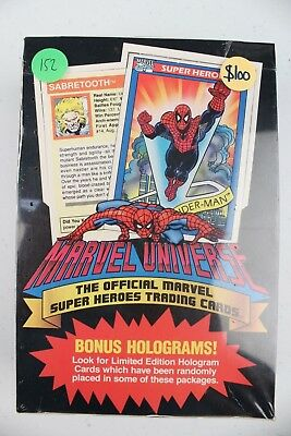 The official Marvel Super Heroes trading cards