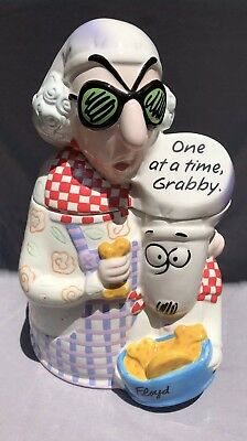 "Hallmark's MAXINE Cookie Jar ""One At A Time Grabby"" Floyd The Dog Dated 2003 GUC"