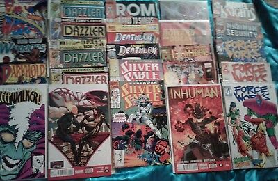 Lot of 25 Marvel Comics, Dazzler, Silk, Silver Sable, Inhuman, Force Works, more