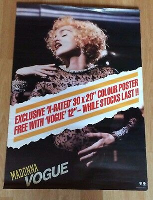 MADONNA Original Promo Poster For Vogue Very Hard To Find Now!!!
