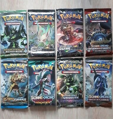 8x Pokemon Booster Deutsch