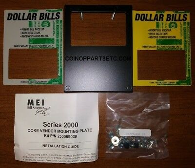 MARS Mei Bill Acceptor Series 2000 COKE VENDOR MOUNTING KIT #250069039 10 lot