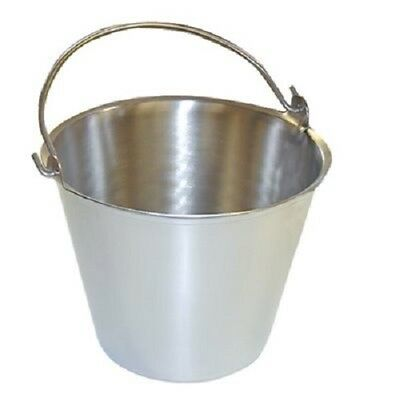 Premium Stainless Steel Pail, Vet/milk Bucket, Made in Usa, Completely Seamless