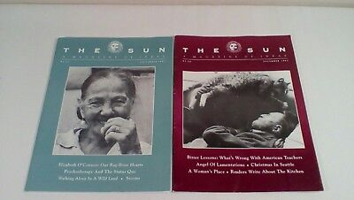 Lot of 2 The Sun A Magazine of Ideas SEPT & DEC 1993 Issues