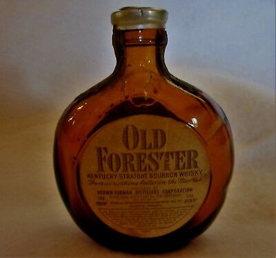 Vintage Old Forester Southern Pacific Railroad Miniature Whiskey Bottle - empty